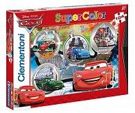 Puzzle Supercolor 104 dílků Auta