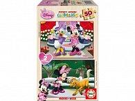 Puzzle dřevěné Minnie 2 v 1 50 dílků