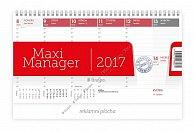Kalendář stolní 2017 - Maximanager červený