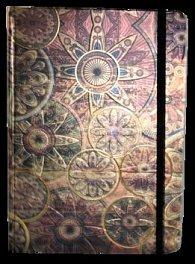 Zápisník s gumičkou A5 145x210 mm zlatobronzový ornament