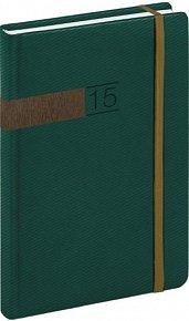 Diář 2015 - Twill - Denní B6, zelenobronzová (CZ, SK, GB, DE)
