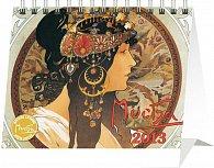 Kalendář 2013 stolní - Alfons Mucha Praktik, 16,5 x 13 cm