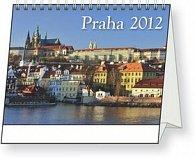 Kalendář stolní  2012 - Praha pohlednicový kalendář, 15 x 11,5 cm