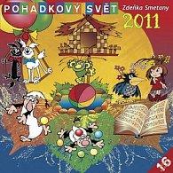 Kalendář 2011 - Pohádkový svět Zdeňka Smetany - s českými jmény (30x60) nástěnný poznámkový