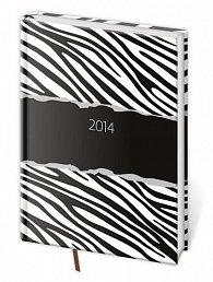 Diář 2014 - týdenní A5 Vario - Zebra
