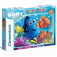 Puzzle Supercolor 60 dílků Hledá se Dory