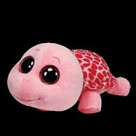 Plyš očka želva pink střední