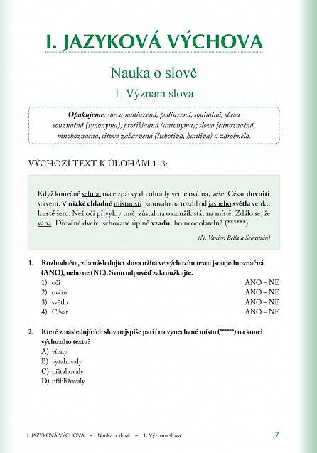 Náhled Přijímací zkoušky na víceletá gymnázia – český jazyk