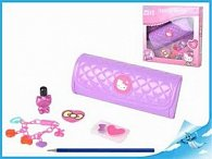 Kosmetická taštička 20cm Hello Kitty s náramkem a doplňky v krabičce