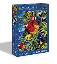 Puzzle Magic 3D 1000 dílků Papoušci