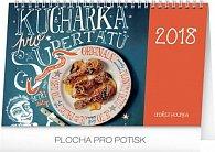 Kalendář stolní 2018 - Kuchařka pro supertátu, 23,1 x 14,5 cm