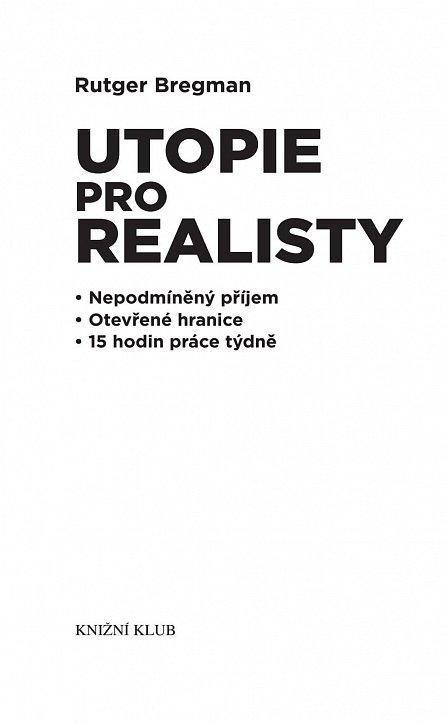 Náhled Utopie pro realisty