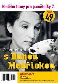 Nedělní filmy pro pamětníky 7. - Dana Medřická - 2 DVD pošetka