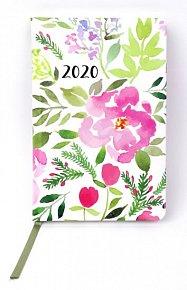 Diář 2020 týdenní: Akvarelové květy