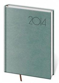 Diář 2014 - týdenní A5 Print - modrošedá