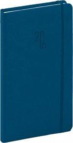 Diář 2016 - Diamante - Kapesní, modrá,  9 x 15,5 cm