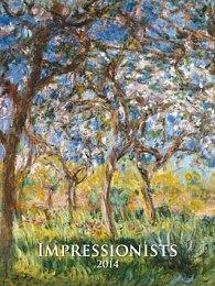 Impressionists - nástěnný kalendář 2014