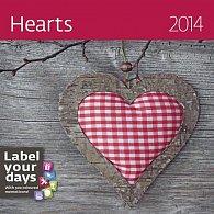 Kalendář 2014 - Hearts - nástěnný