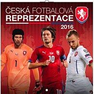Kalendář nástěnný 2016 - Česká fotbalová reprezentace, poznámkový  30 x 30 cm
