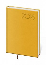 Diář 2016 - Print A5 denní - žlutá