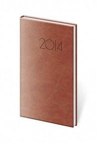 Diář 2014 - kapesní týdenní Print - anglická červená