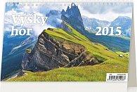 Kalendář stolní 2015 - Výšky hor