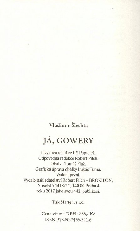 Náhled Já, Gowery