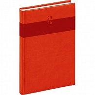 Diář 2016 - Aprint - Denní A5, červená,  15 x 21 cm