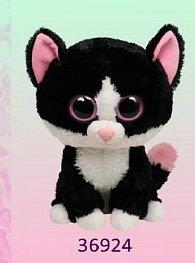 Plyš očka velká kočka černobílá