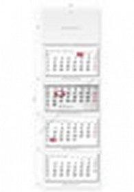 Kalendář nástěnný 2016 - Čtyřměsíční šedý