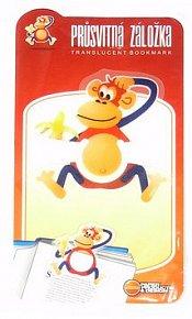 Průsvitná záložka Opička - PZ 023