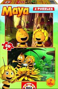 Puzzle Včelka Mája 2v1 2x20 dílků