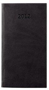 Diář koženkový 2012 - Print týdenní kapesní - černá