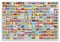 Puzzle Státní vlajky 1500 dílků