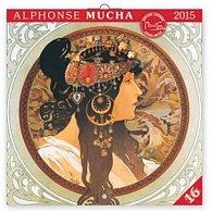 Kalendář 2015 - Alfons Mucha - nástěnný (GB, DE, FR, IT, ES, NL)
