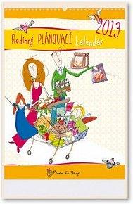 Rodinný plánovací kalendář Born to shop 2013 - nástěnný kalendář