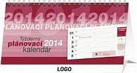 Týždenný plánovací riadkový - stolní kalendář 2014
