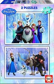 Puzzle Ledové Království 2v1 100 dílků