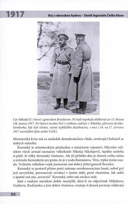 Náhled Boj s rakouskou hydrou - Deník legionáře Čeňka Klose