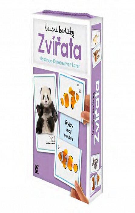 Náhled Naučné kartičky: Zvířata (Obsahuje 30 posuvných karet)
