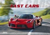 Fast cars 2016 - nástěnný kalendář