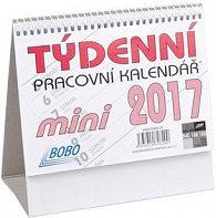 Týdenní pracovní kalendář mini 2017 - stolní kalendář