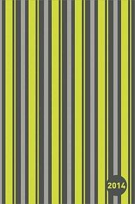 Diář 2014 - Pruhy zelené - Týdenní magnetický (ČES, SLO, MAĎ, POL, RUS, ANG)