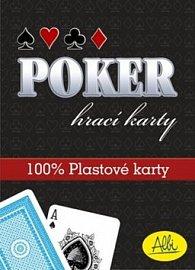 Poker plastové karty červené
