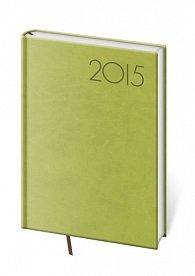 Diář 2015 - PRINT POP denní A5 - zelená