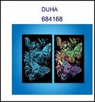 Škrabací obrázek A5 motýlci DUHA