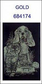 Škrabací obrázek A5 pes a kotě GOLD