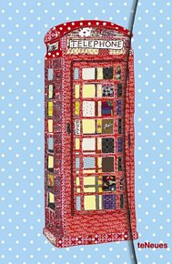 Zápisník Patchwork Telephone Box malý