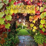 Kalendář nástěnný 2016 - Zahrady, poznámkový  30 x 30 cm