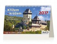 Kalendář stolní 2017 - Křížem krážem Českou republikou